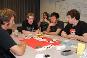 Card game prototype at a club competition